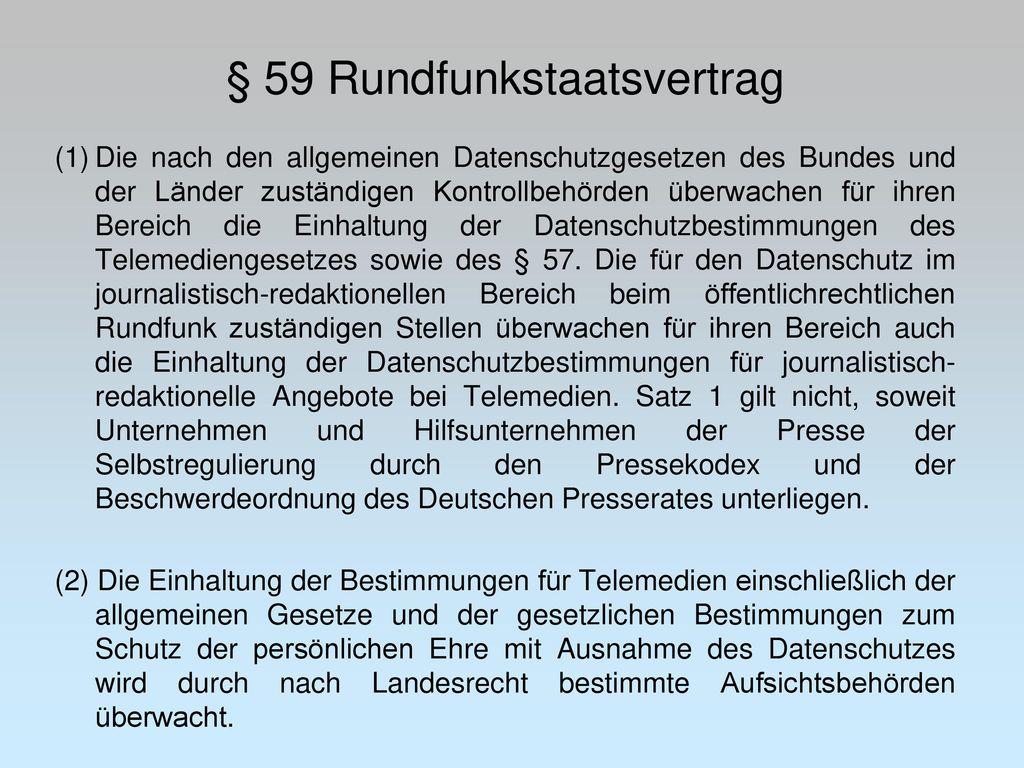 § 59 Rundfunkstaatsvertrag