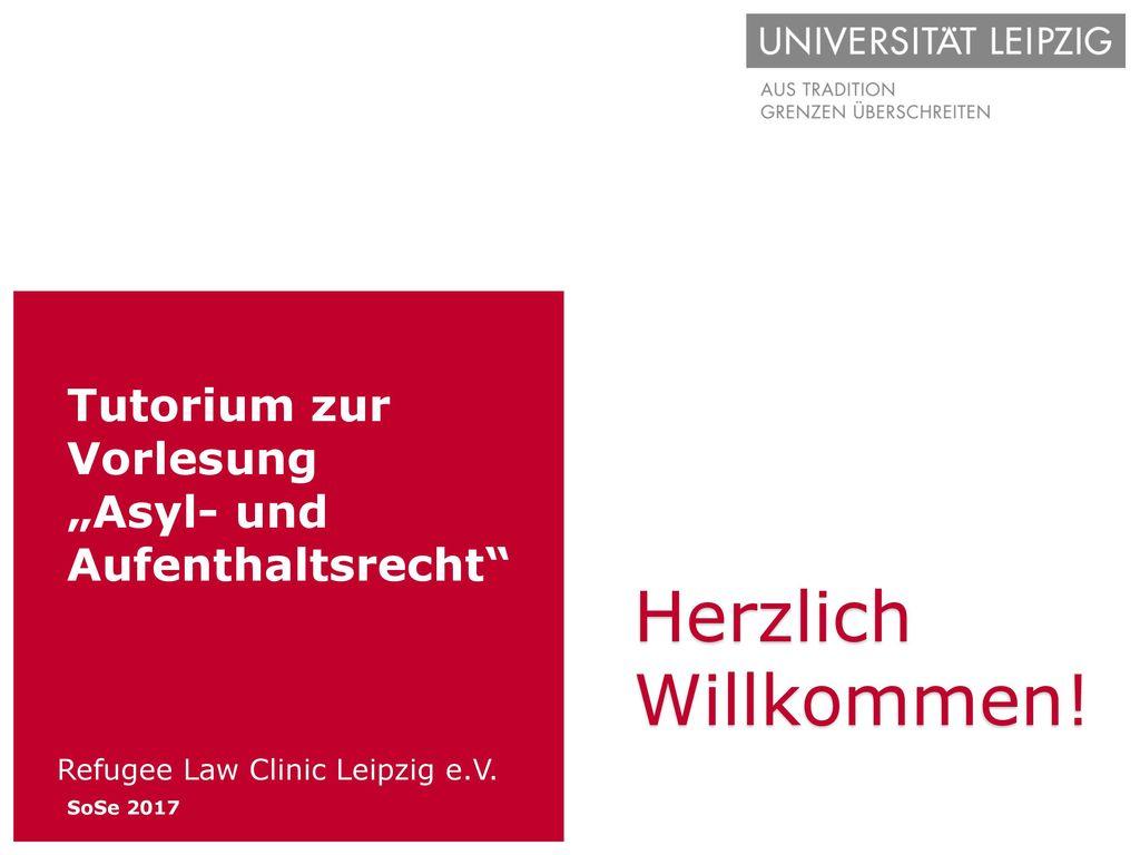 """Tutorium zur Vorlesung """"Asyl- und Aufenthaltsrecht"""