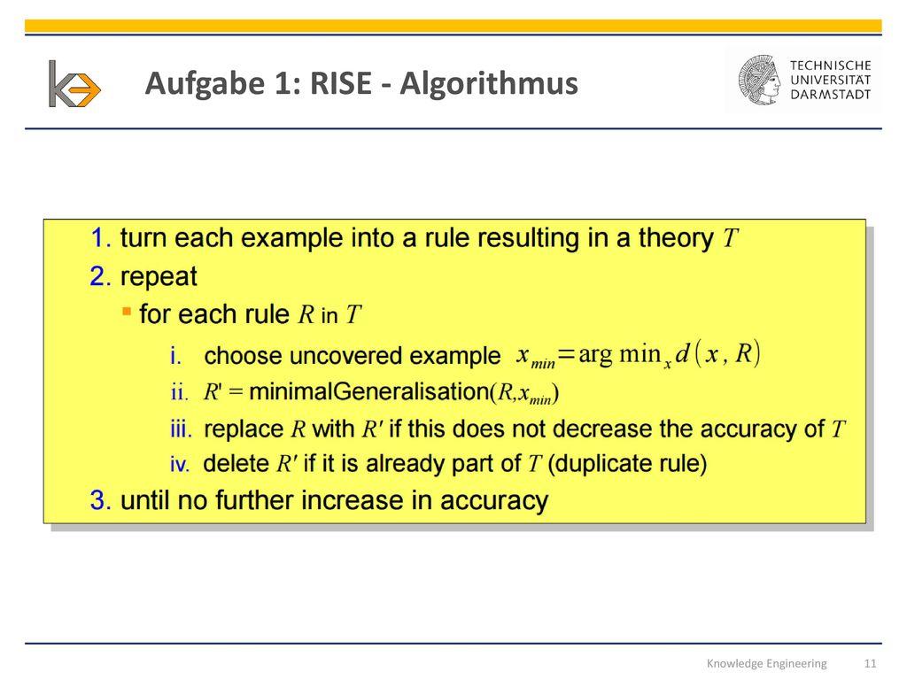Aufgabe 1: RISE - Algorithmus