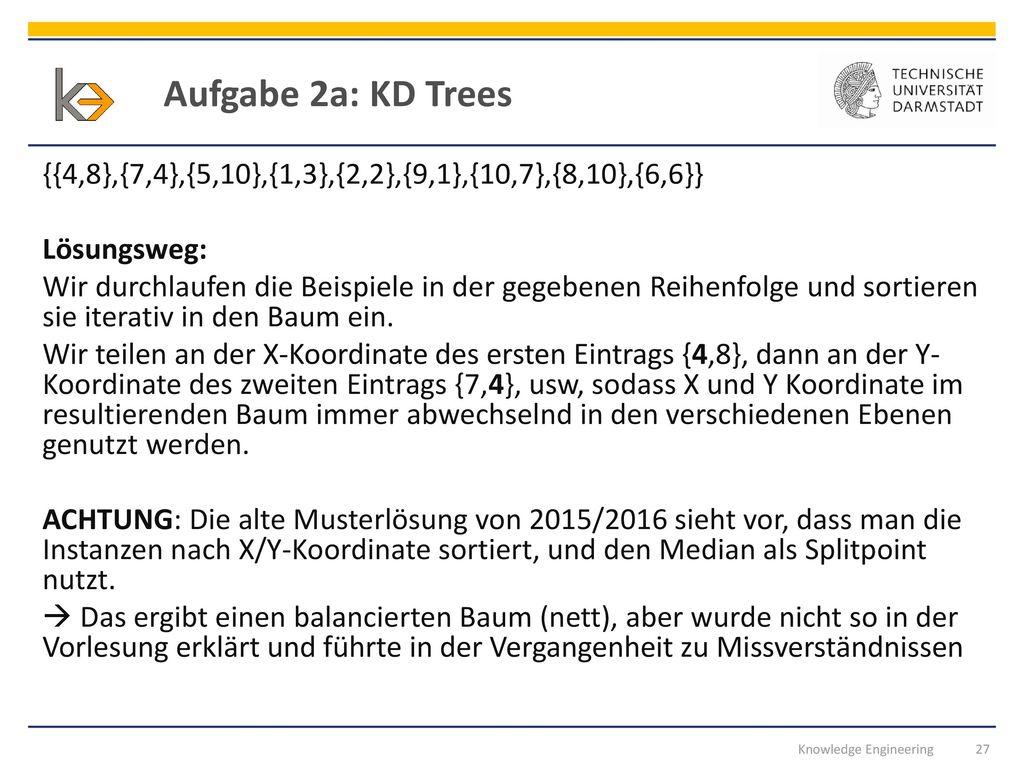 Aufgabe 2a: KD Trees