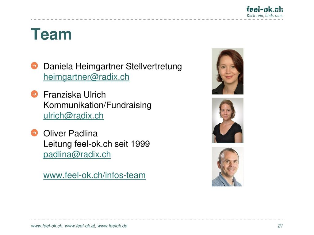 Team Daniela Heimgartner Stellvertretung