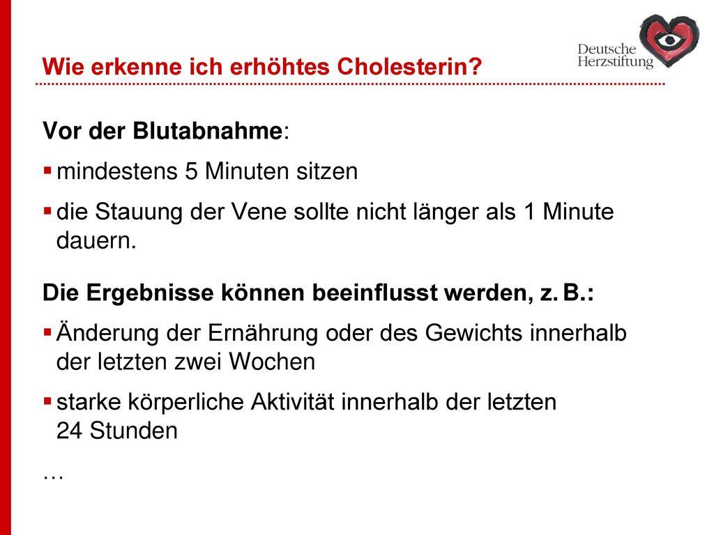 Wie erkenne ich erhöhtes Cholesterin