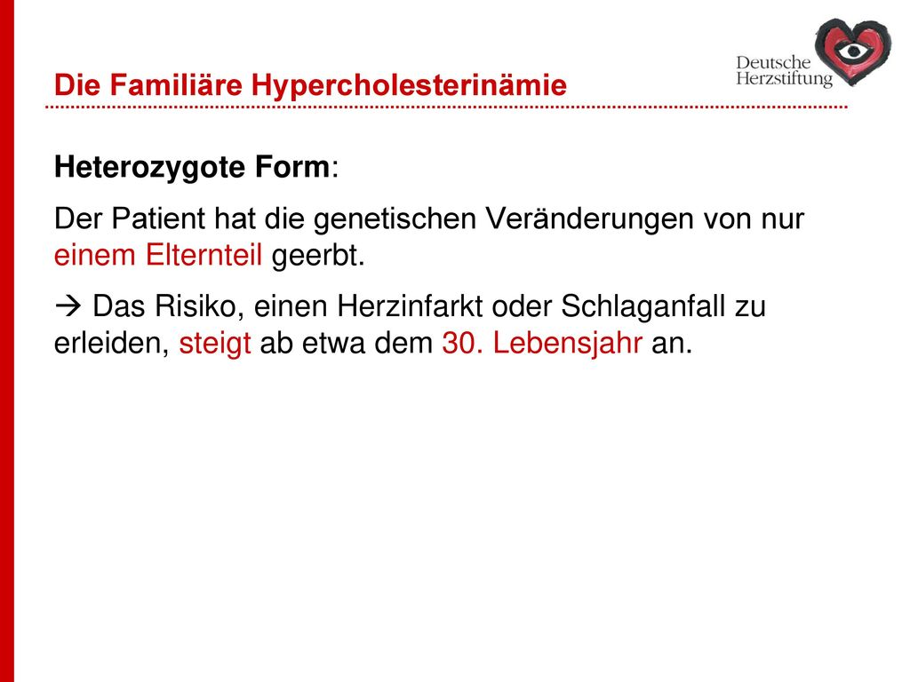 Die Familiäre Hypercholesterinämie