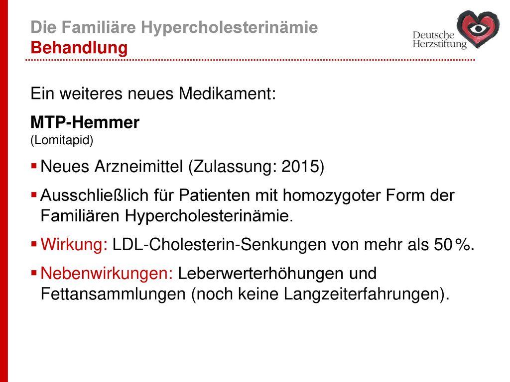Die Familiäre Hypercholesterinämie Behandlung