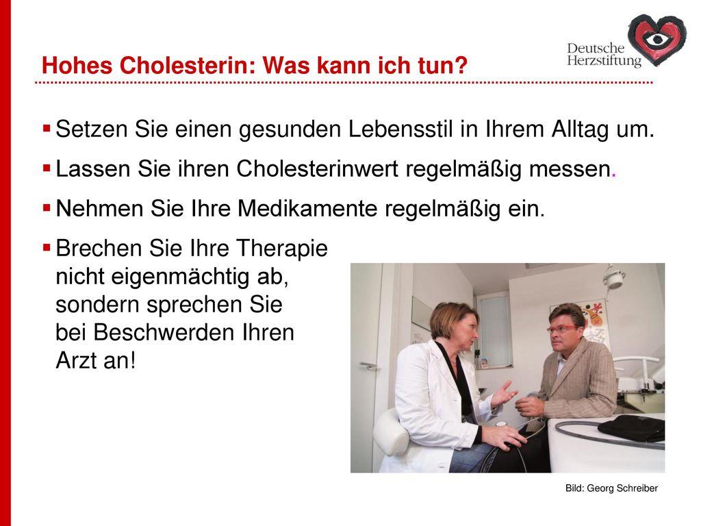 Hohes Cholesterin: Was kann ich tun