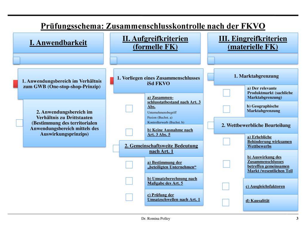 Prüfungsschema: Zusammenschlusskontrolle nach der FKVO