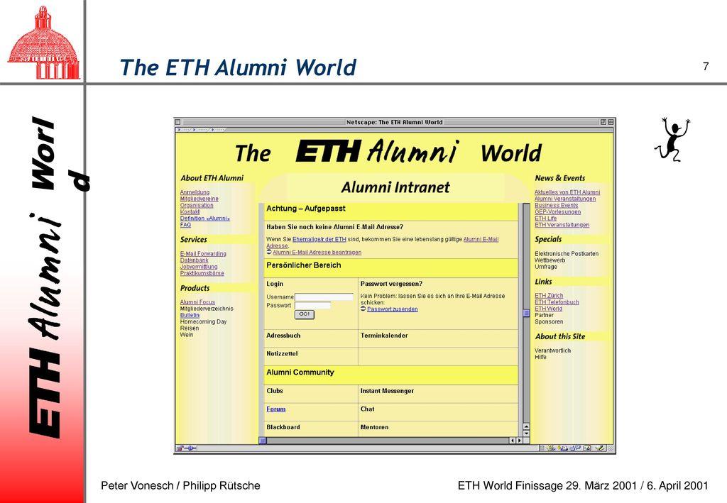 The ETH Alumni World Peter Vonesch / Philipp Rütsche