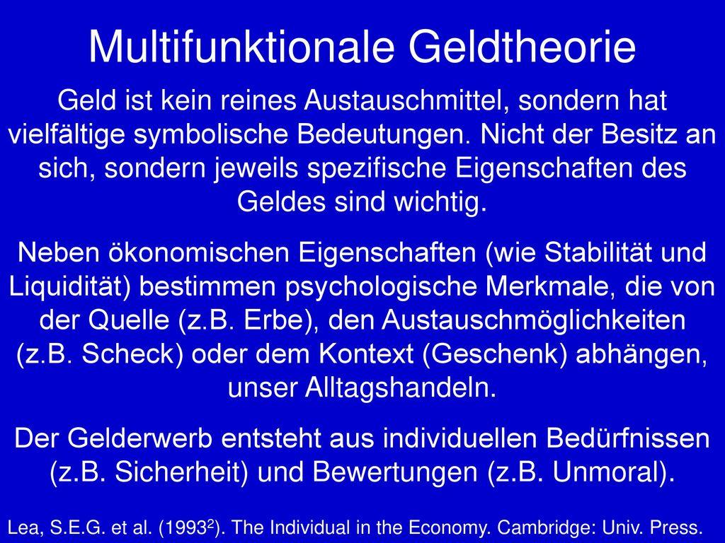 Multifunktionale Geldtheorie