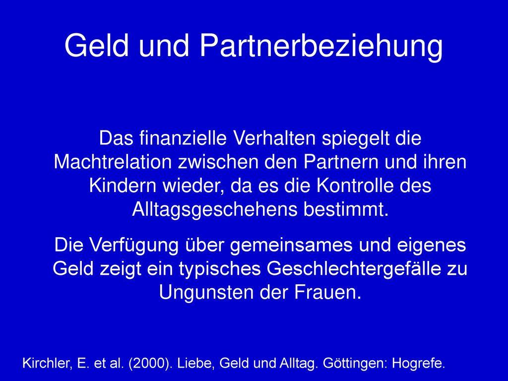 Geld und Partnerbeziehung