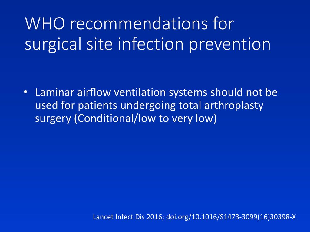 WHO recommendations for surgical site infection prevention