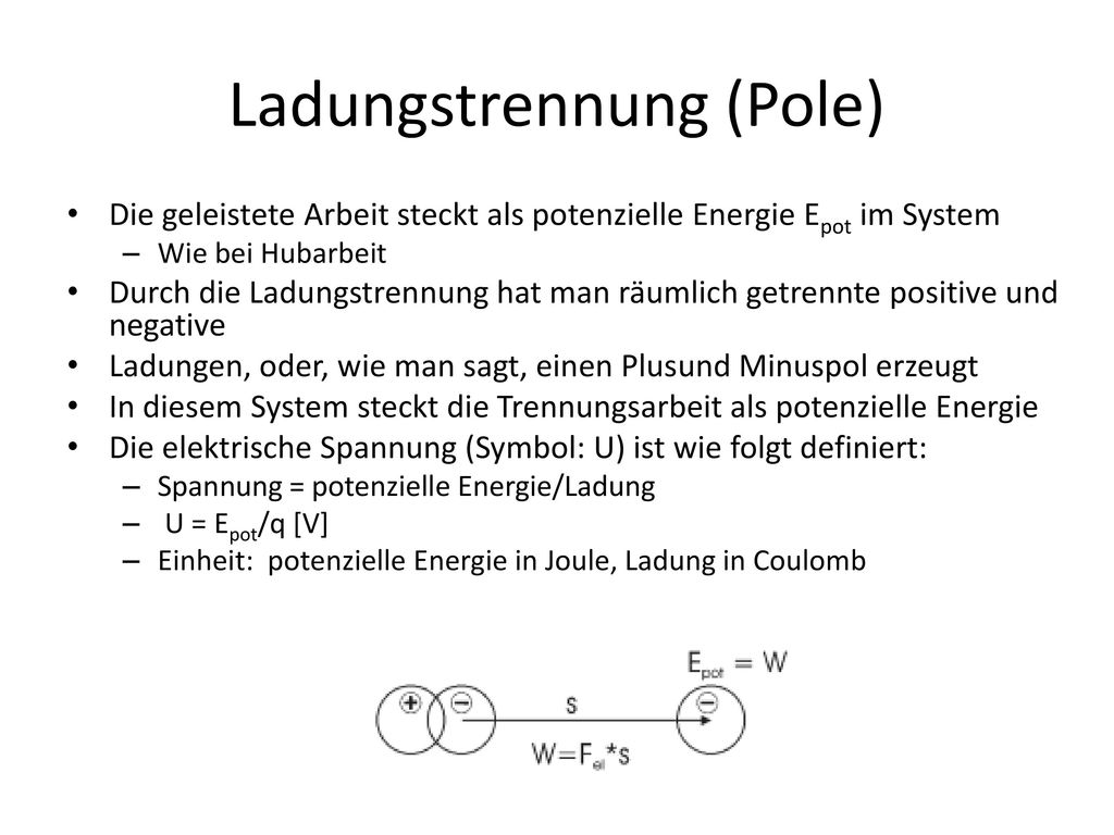 Ladungstrennung (Pole)