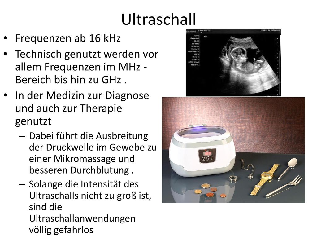 Ultraschall Frequenzen ab 16 kHz