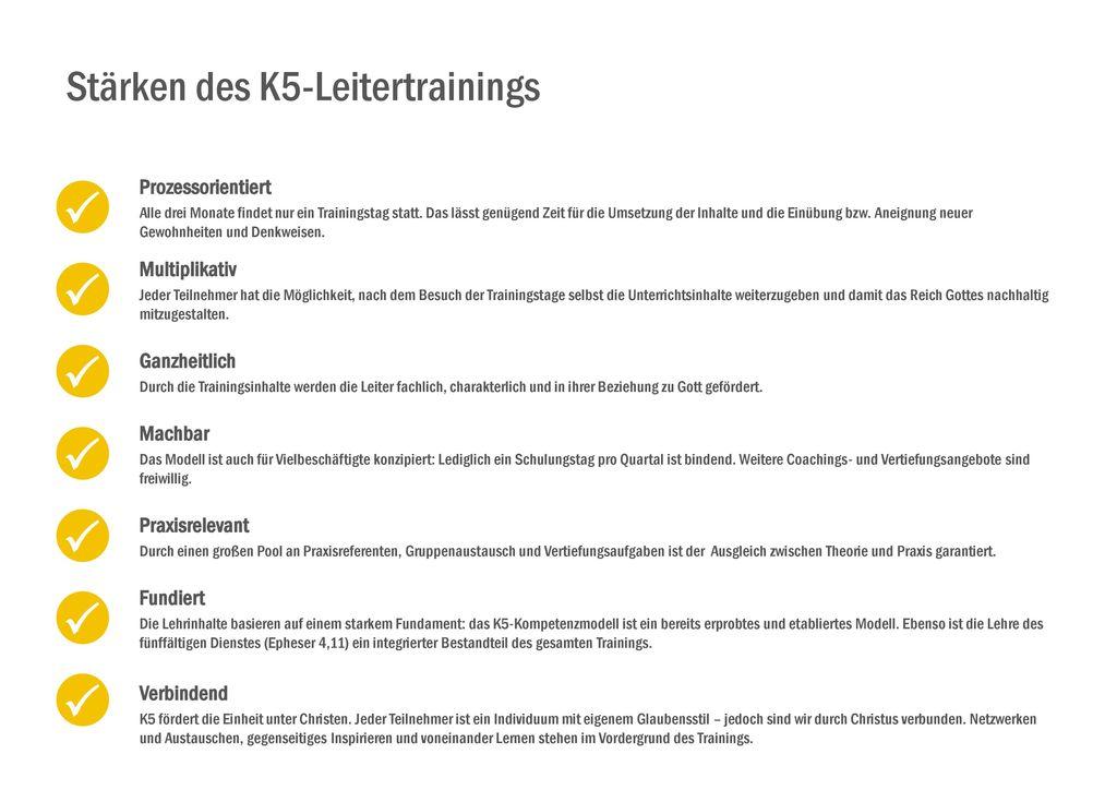 Stärken des K5-Leitertrainings