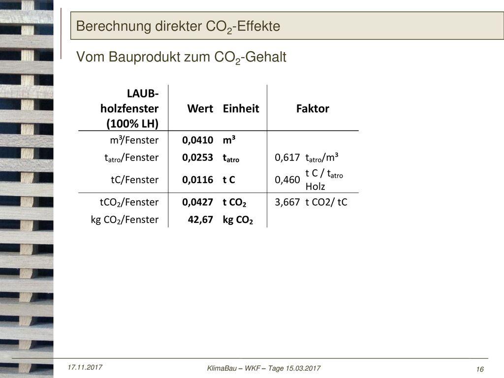 Berechnung direkter CO2-Effekte