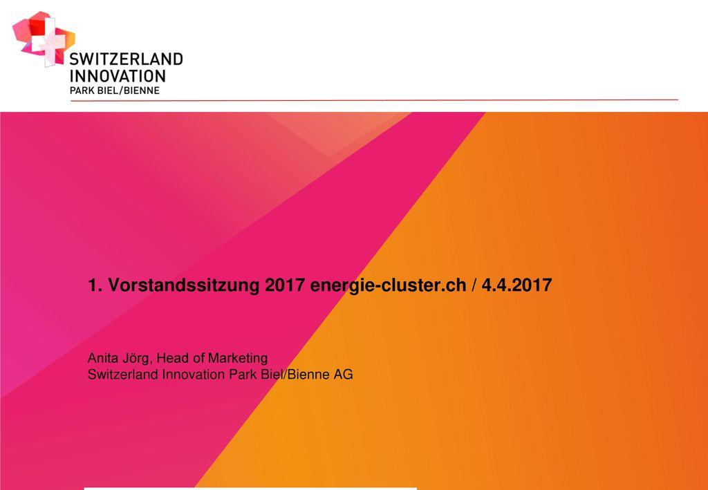 1. Vorstandssitzung 2017 energie-cluster.ch / 4.4.2017