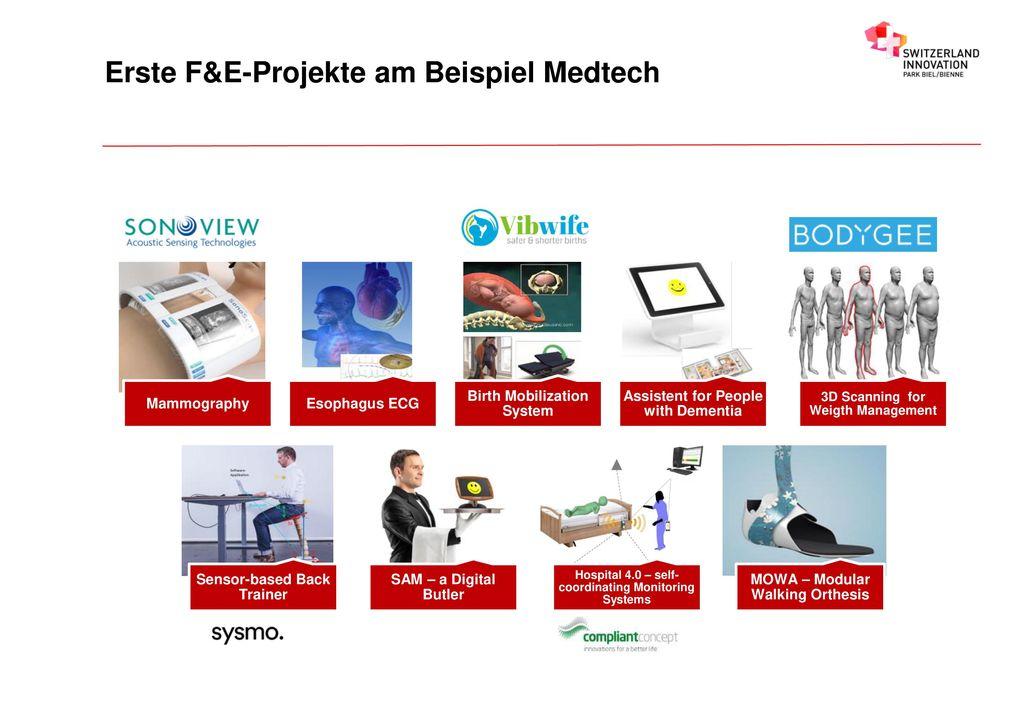 Erste F&E-Projekte am Beispiel Medtech