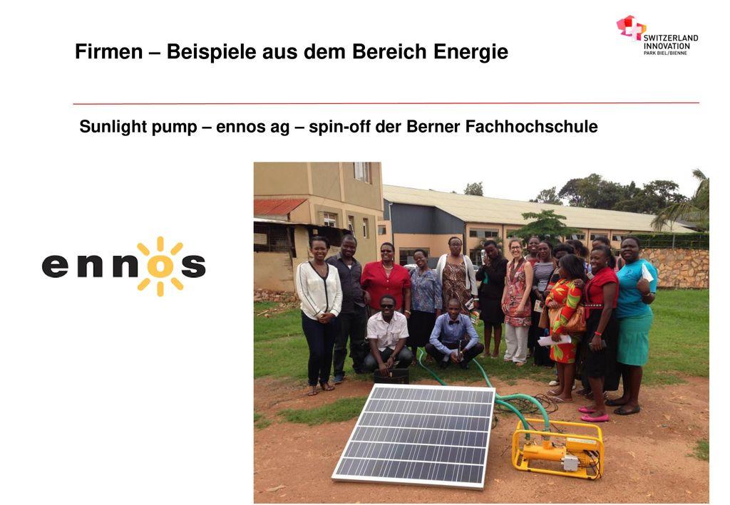 Firmen – Beispiele aus dem Bereich Energie