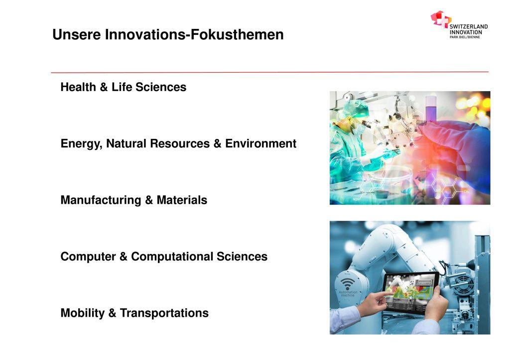 Unsere Innovations-Fokusthemen