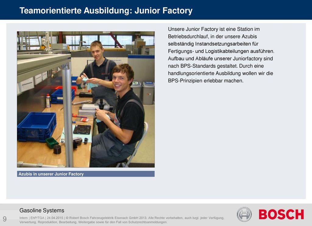 Teamorientierte Ausbildung: Junior Factory