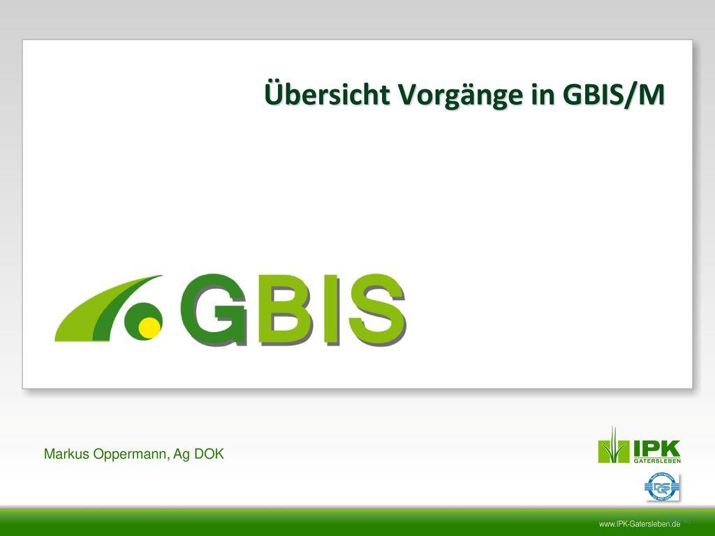 Übersicht Vorgänge in GBIS/M