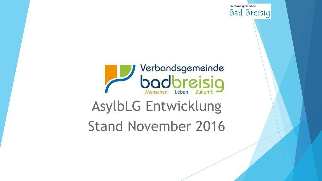 AsylbLG Entwicklung Stand November 2016
