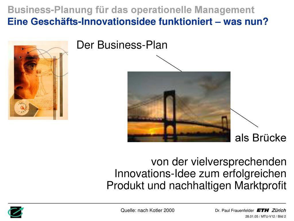 Der Business-Plan als Brücke