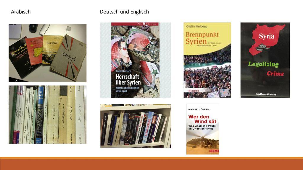 Arabisch Deutsch und Englisch