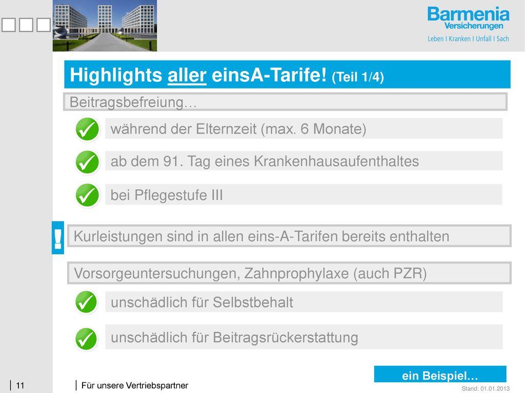 Highlights aller einsA-Tarife! (Teil 1/4)
