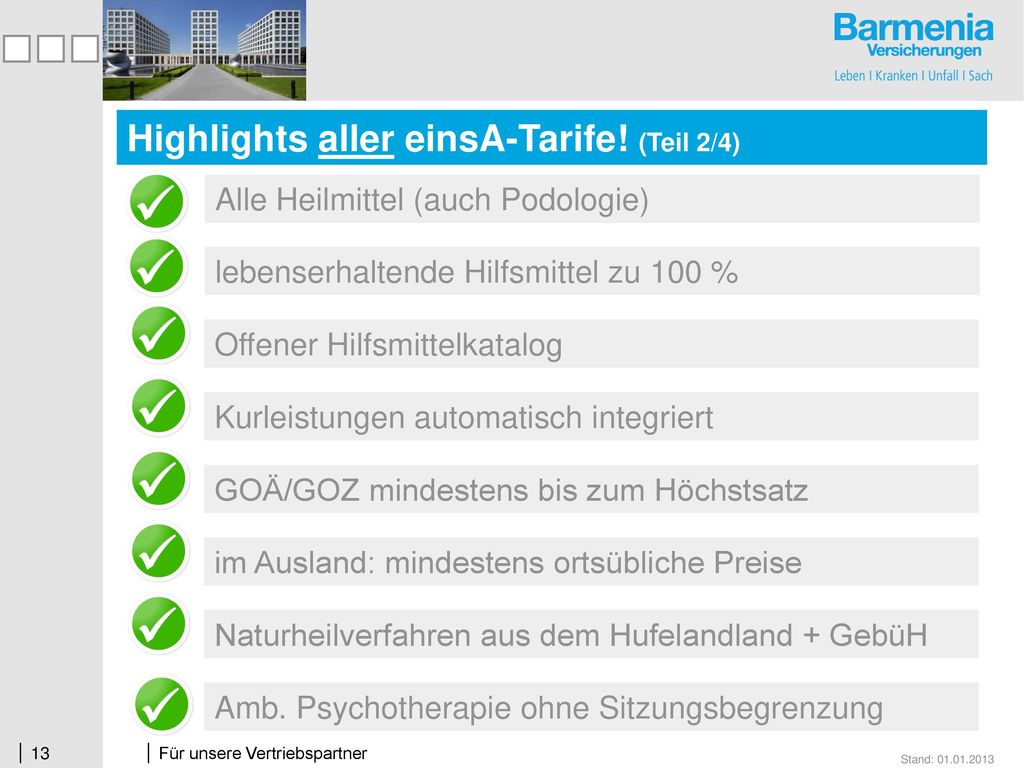 Highlights aller einsA-Tarife! (Teil 2/4)