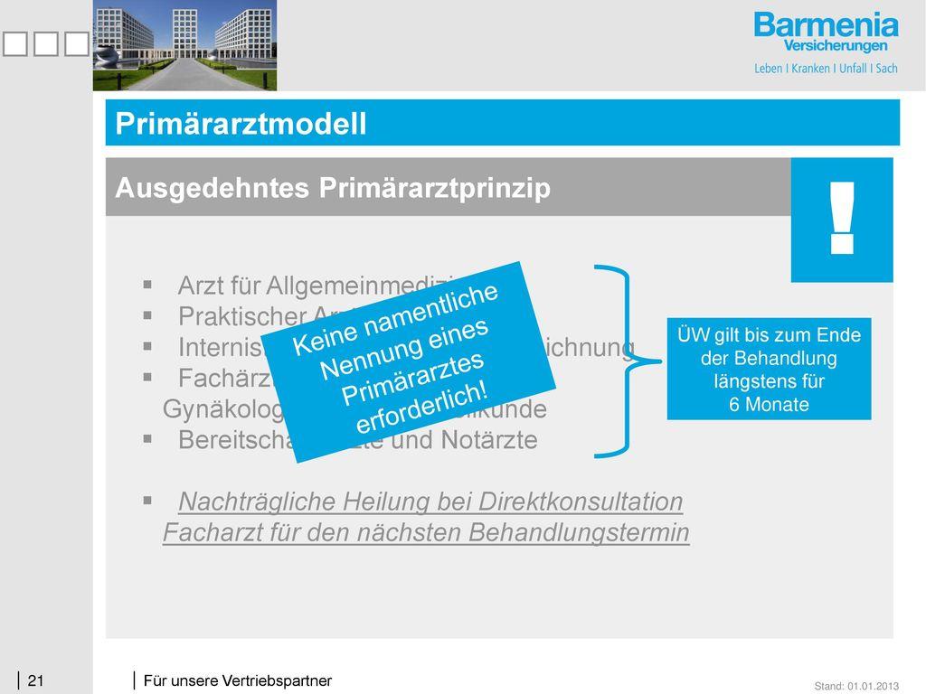 ! Primärarztmodell Ausgedehntes Primärarztprinzip