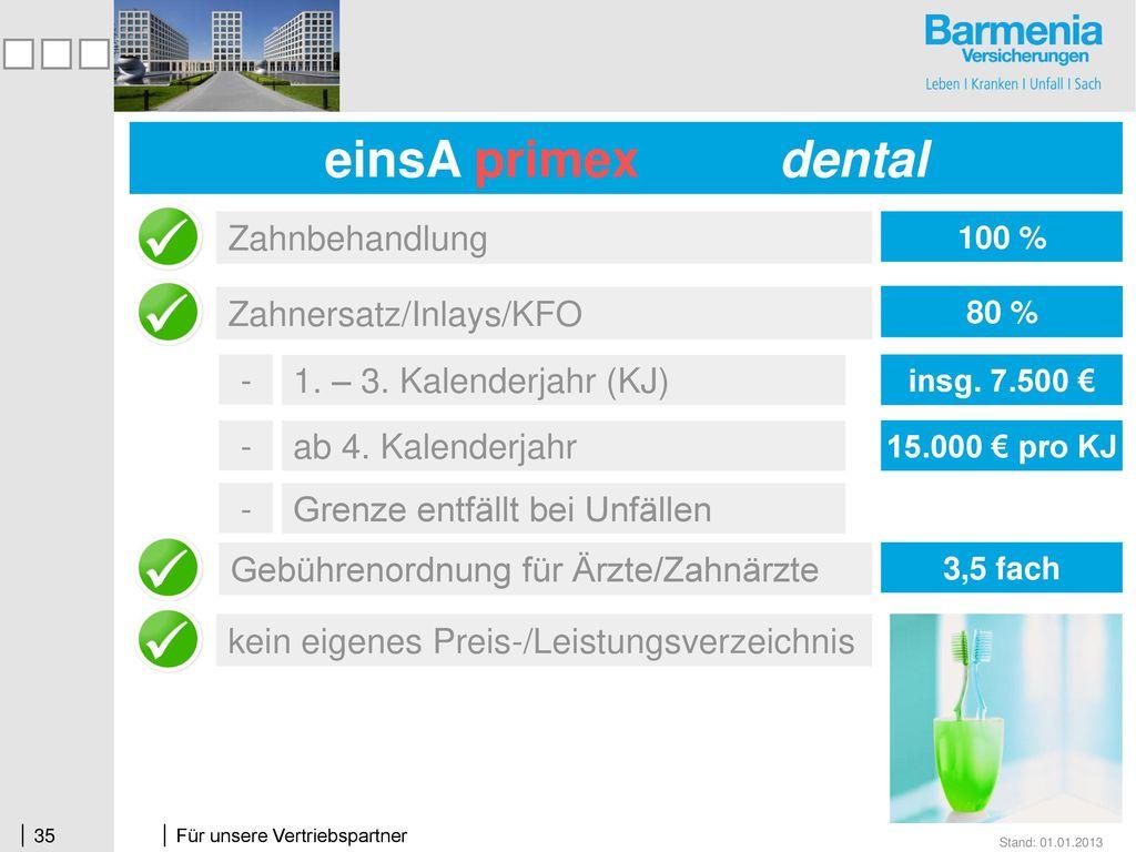 einsA prima + dental einsA primex dental