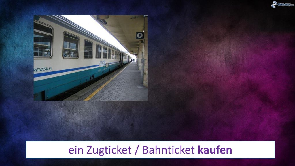 ein Zugticket / Bahnticket kaufen