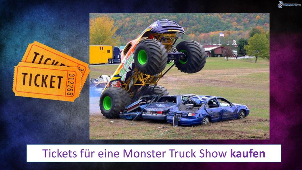 Tickets für eine Monster Truck Show kaufen