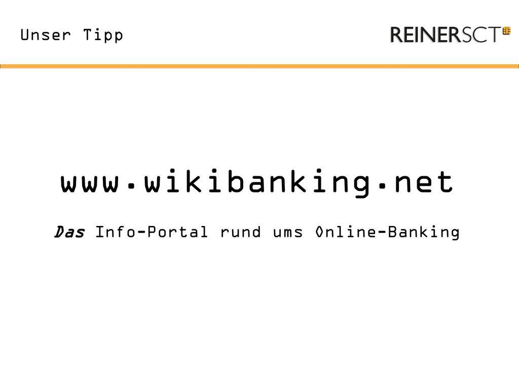 Das Info-Portal rund ums Online-Banking