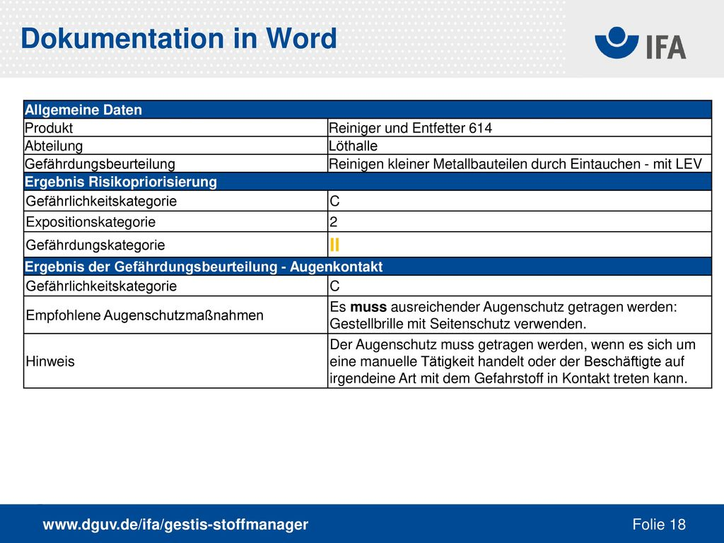 Dokumentation in Word II