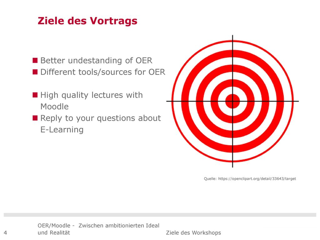 Ziele des Vortrags Better undestanding of OER