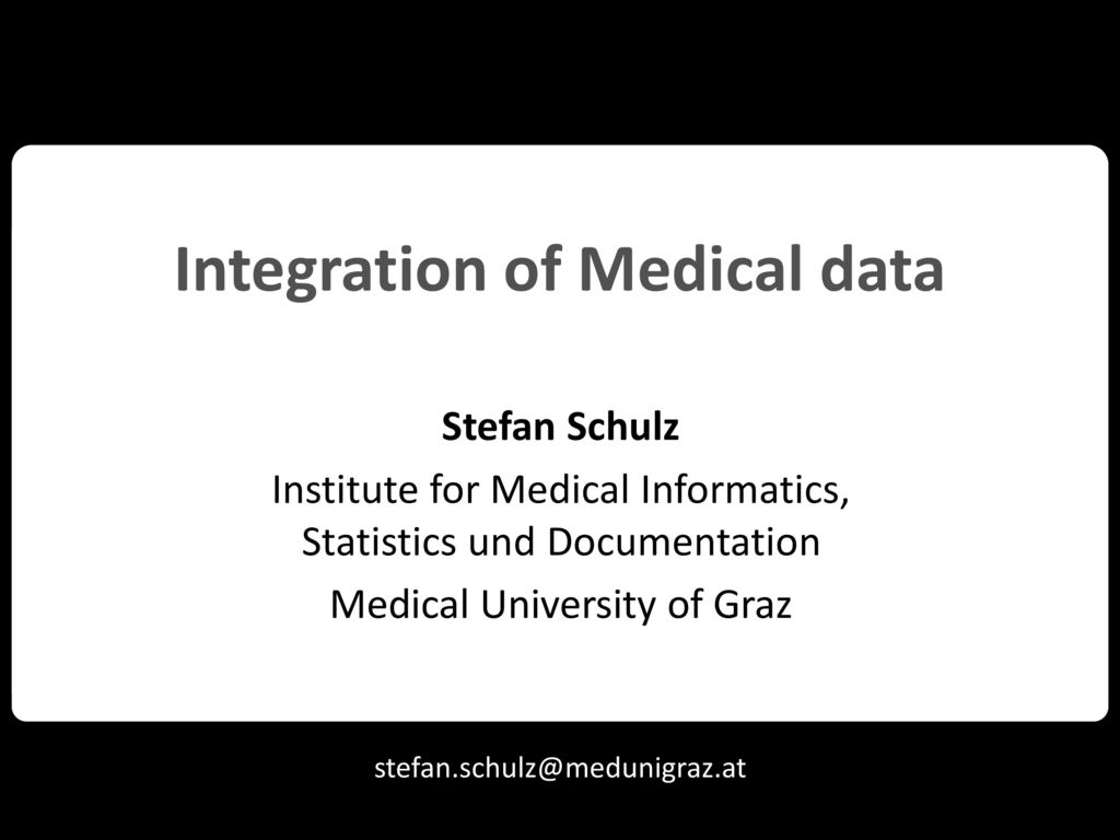 Integration of Medical data
