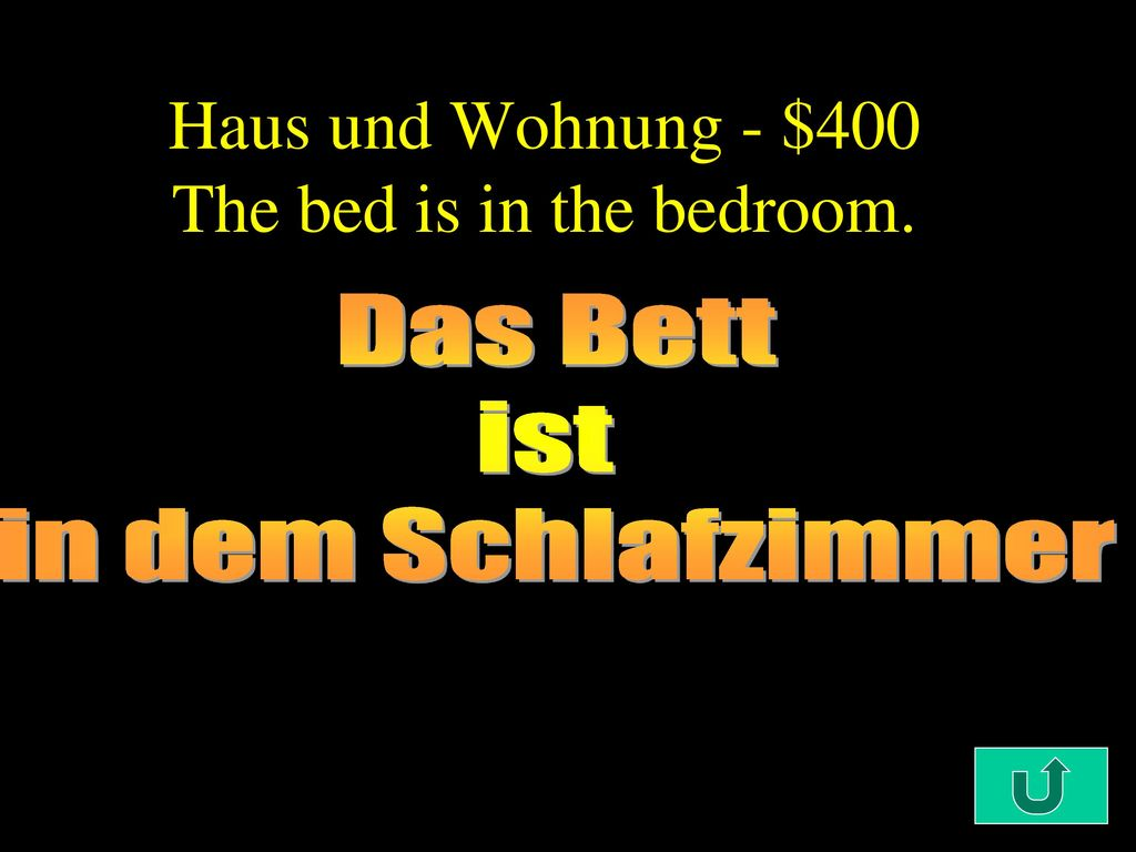 Haus und Wohnung - $400 The bed is in the bedroom.