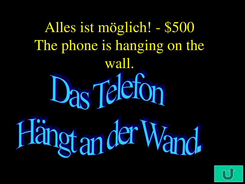 Alles ist möglich! - $500 The phone is hanging on the wall.