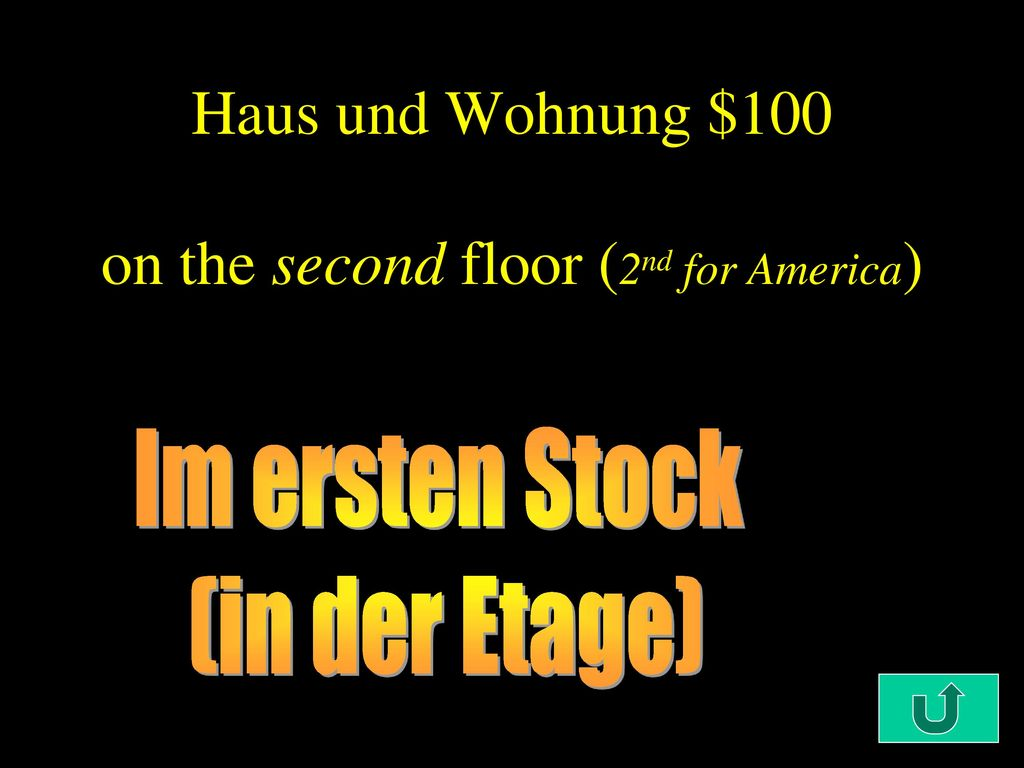 Haus und Wohnung $100 on the second floor (2nd for America)