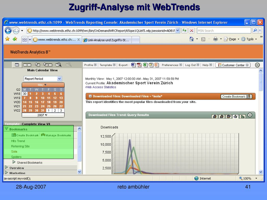 Zugriff-Analyse mit WebTrends
