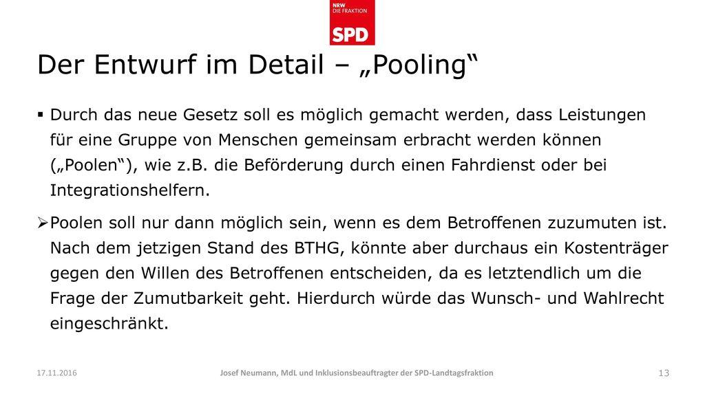 "Der Entwurf im Detail – ""Pooling"