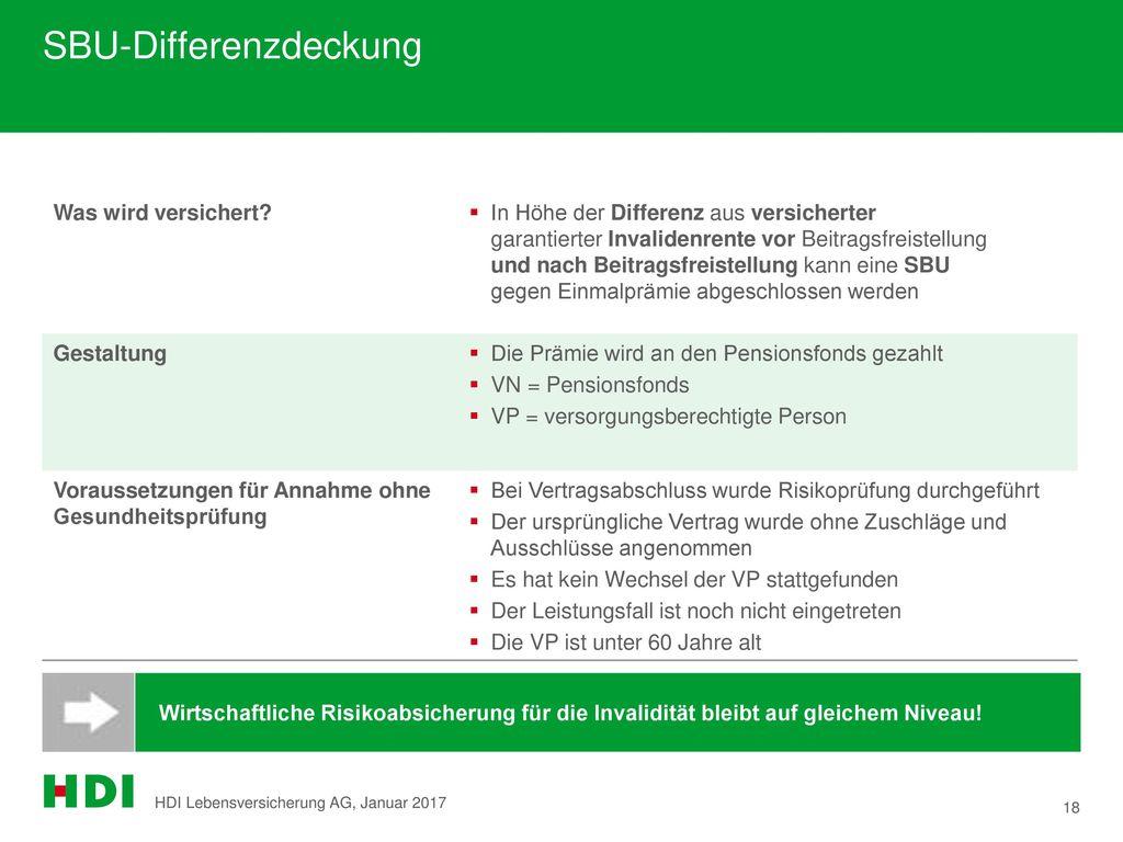 SBU-Differenzdeckung