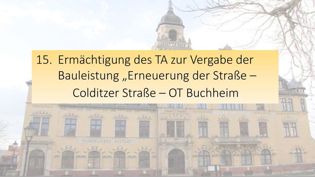 Colditzer Straße – OT Buchheim