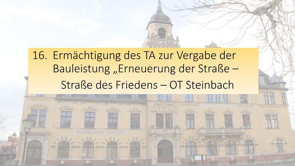 Straße des Friedens – OT Steinbach