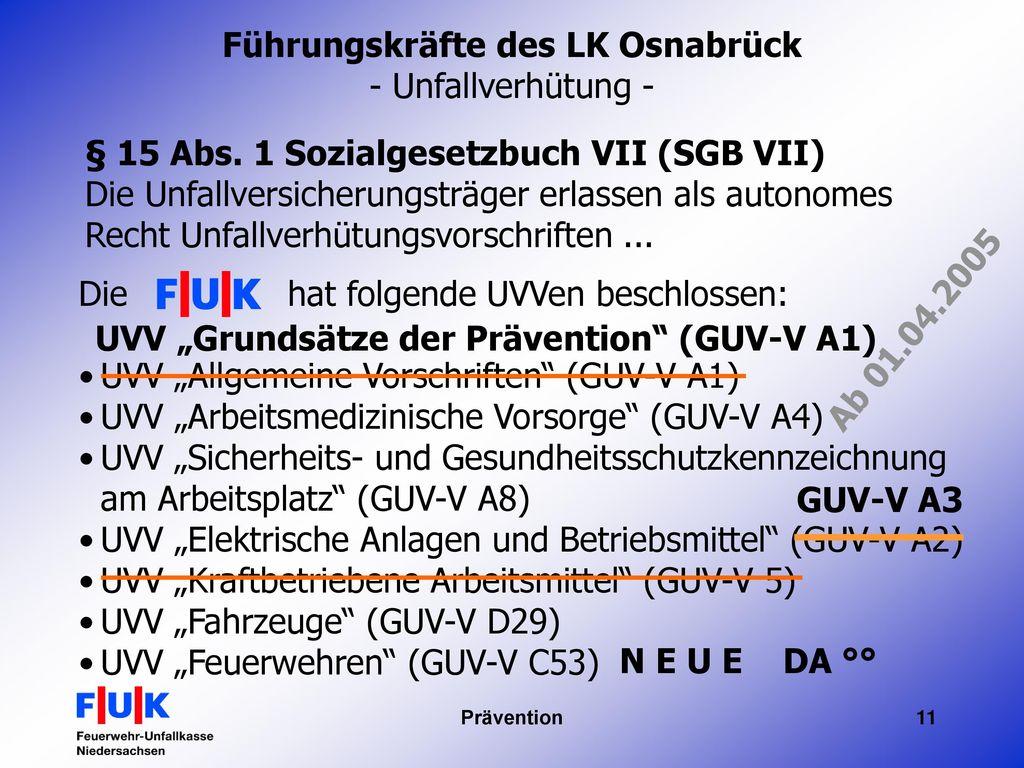 Führungskräfte des LK Osnabrück - Unfallverhütung -