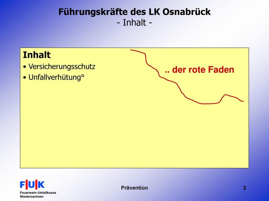 Führungskräfte des LK Osnabrück - Inhalt -