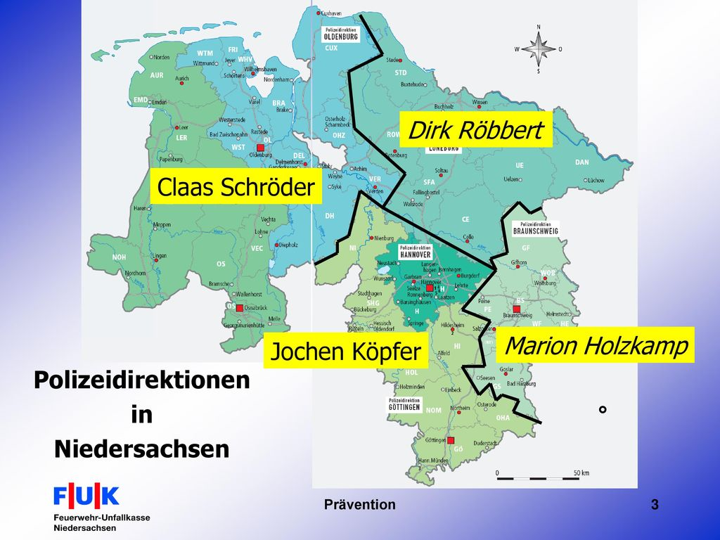 Polizeidirektionen in Niedersachsen