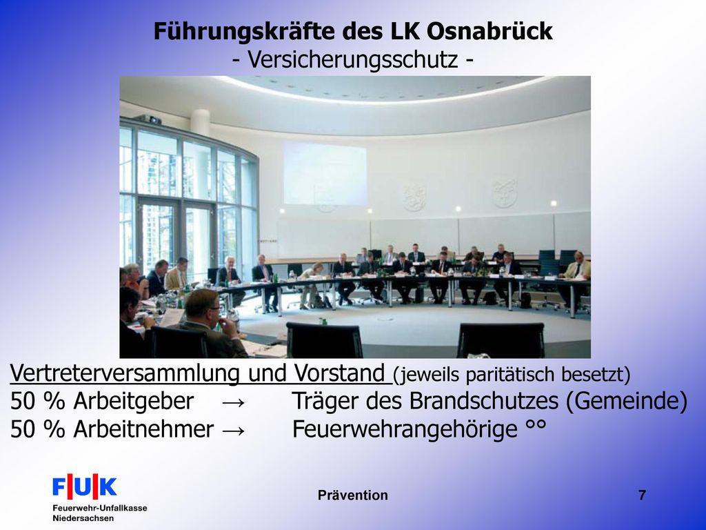 Führungskräfte des LK Osnabrück - Versicherungsschutz -