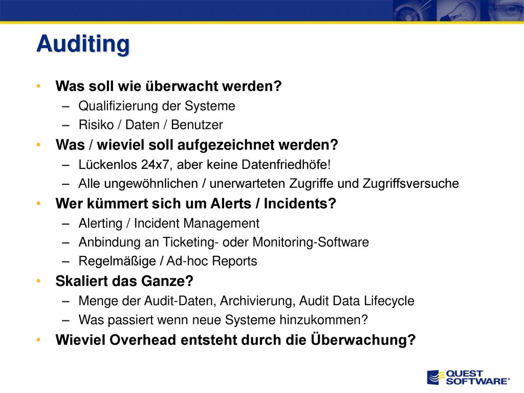 Auditing (Beispiel PCI DSS)